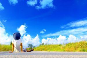 夏休みの空